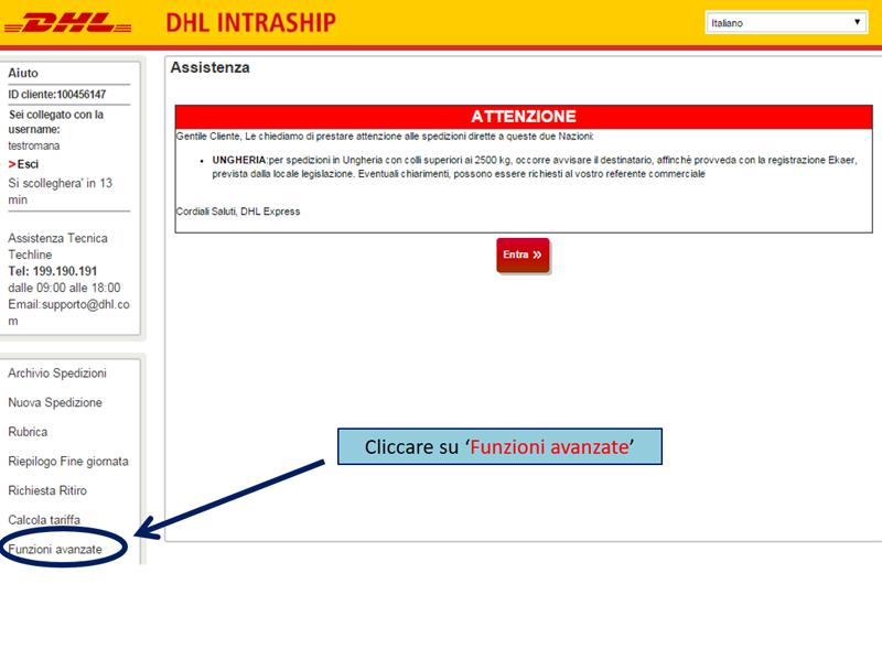 DHL Intraship, how to upload CSV file – Qapla' Help